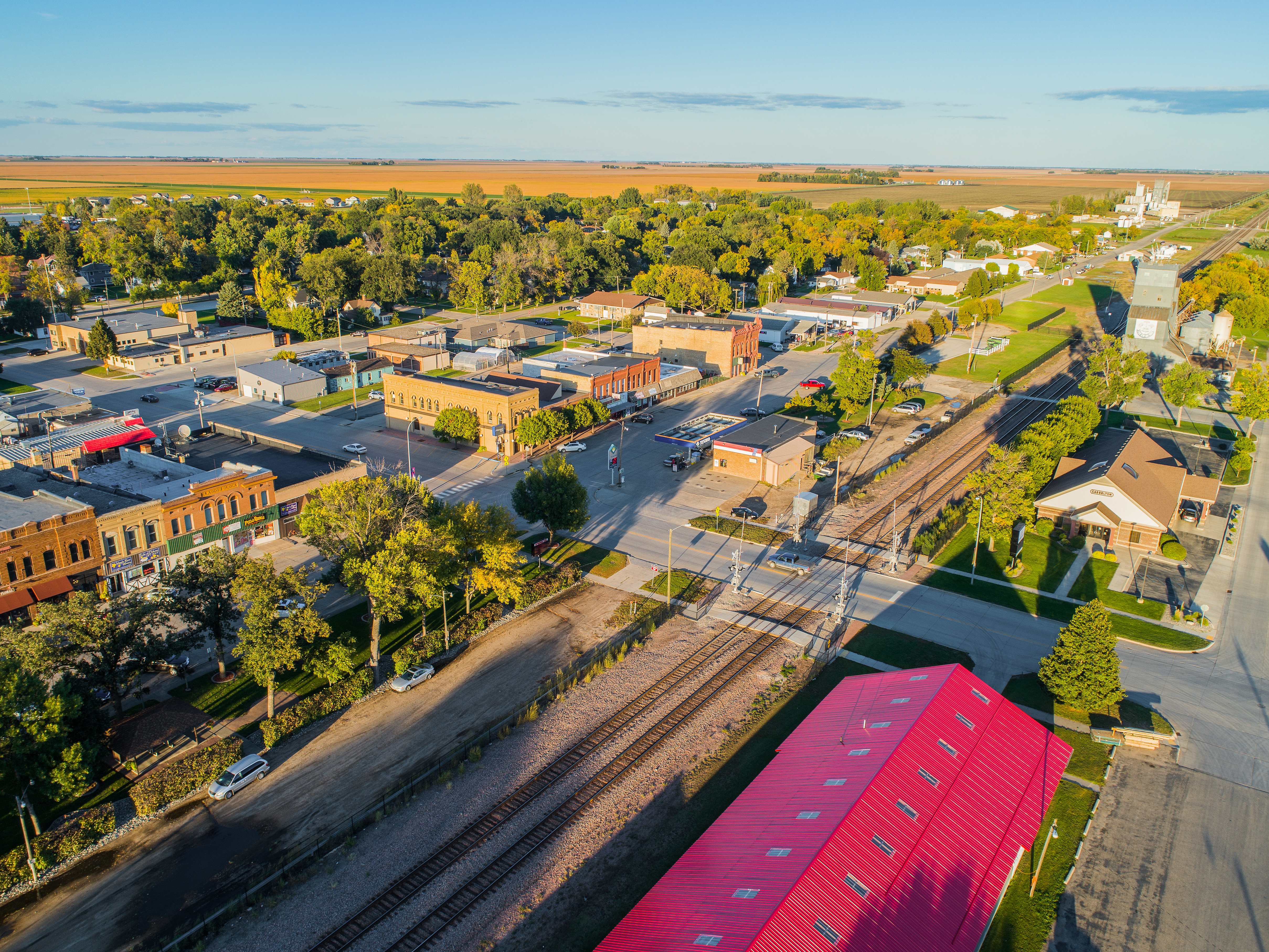 Aerial Downtown Casselton
